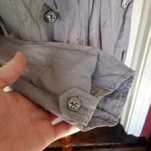NY Collection Jackets & Coats - NY Collection Grey Feminine Military Style Jacket
